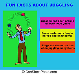Juggling - Cartoon illustration about juggling fun facts.
