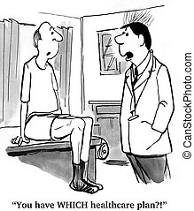 Health Insurance - Medical cartoon about a doctor who...