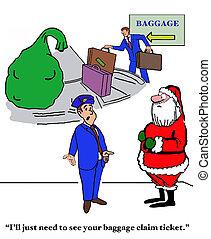 Santa and Baggage Claim - Christmas cartoon about Santa...