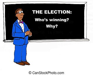 Election Cartoon - Political cartoon about who is winning...