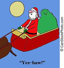 Christmas Eve - Holiday cartoon about Santa Claus pretending...