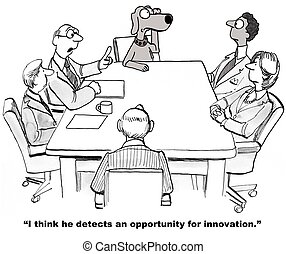 Opportunity for Innovation - Business cartoon about business...