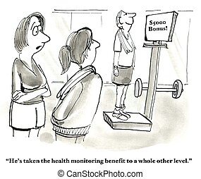 Health Monitoring - Business cartoon about a company whose...