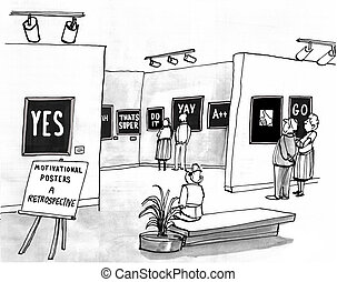 Motivational Posters - Business cartoon about a...