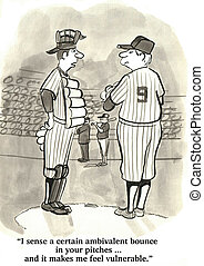 Baseball Catcher - Baseball catcher wants the pitcher to...