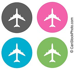 planes flat icons