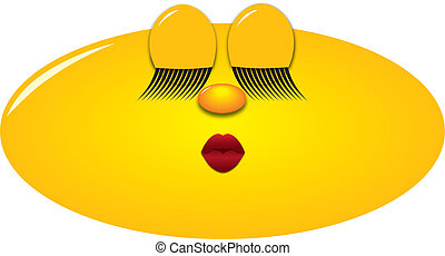 Smiley kiss - Female Smiley with kissing mouth