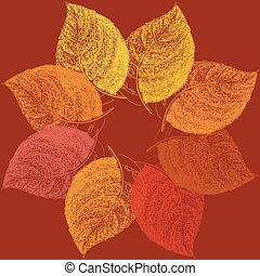 Autumn abstract floral leaf background with place for your text