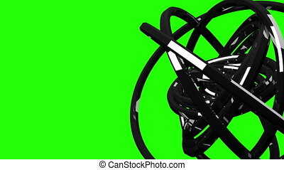 Circle Abstract On Green Chroma Key - Loop Able Circle...