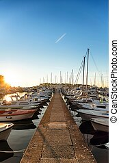 Landscape with boats and sea - Beautiful landscape with...