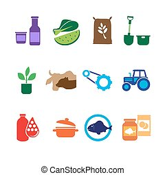 Farming, Food and Agriculture Icons