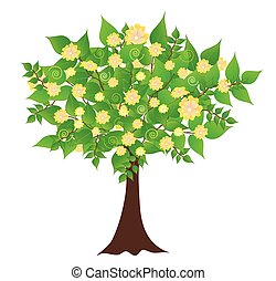 Fruit tree - Colors tree illustration vector format