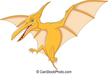 Cute pterodactyl cartoon - vector illustration of Cute...