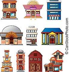 illustration of set several buildin