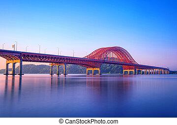 Banghwa bridge and han river in Seoul,Korea