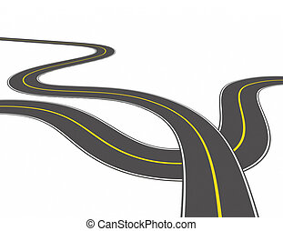 road concept on white background