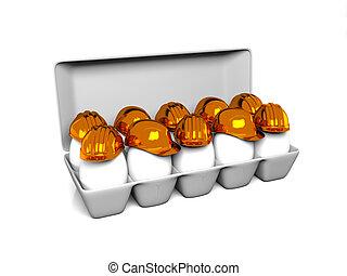 egg construction helmet