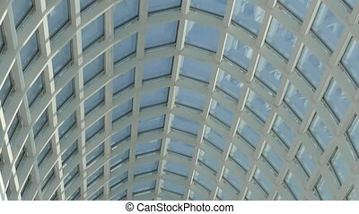 Glass roof building - Glass roof urban modern building