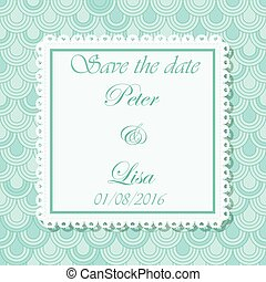 Wedding invitation circle background pink