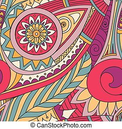 Drawing doddle seamless pattern - Hand-drawn vector doodles,...