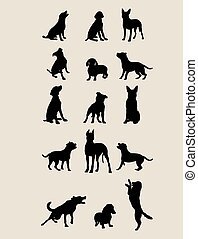 Dog Silhouettes , art vector design