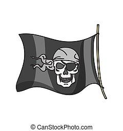 振ること, 旗,  Roger, 海賊, とても