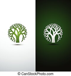 tree logo - Green Tree logo design eco concept.Vector...