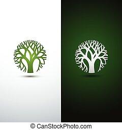 tree logo - Green Tree logo design eco concept.Vector...
