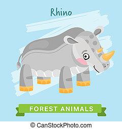 Rhino Raster, forest animals.