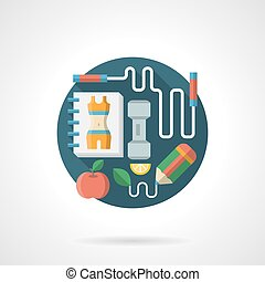 Healthy lifestyle detailed flat color vector icon