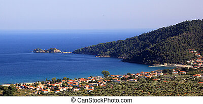 Thassos island, beautiful seascape on Greece
