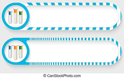 Striped buttons for your text and test tubes