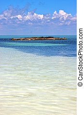 coastline and rock the blue lagoon relax of isla contoy...