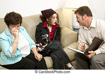 Counseling - Mom Drives Me Crazy - Teen girl complains to...