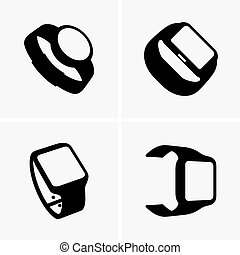 Smart watches - Set of four smart watches (shade pictures)