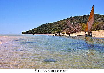 nosy be isthmus isle and coastline madagascar - nosy be...
