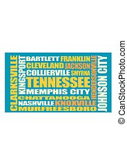 Tennessee state cities list - Image relative to USA travel....