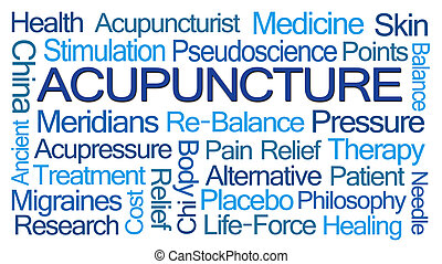 Acupuncture Word Cloud on White Background