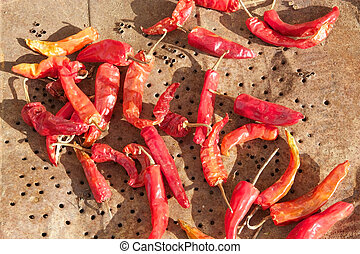 Cayenne pepper (Capsicum annuum). Cayenne pepper also known...