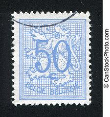 Coat of Arms - BELGIUM - CIRCA 1961: stamp printed by...