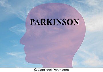 Parkinson concept - Render illustration of Parkinson title...