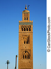 history maroc africa minaret and the blue - in maroc africa...