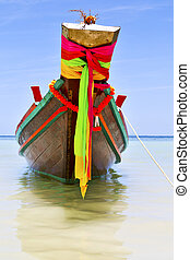 kho tao bay isle pirogue in thailand asia and south china...