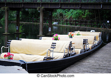 spreewald boat - typical spreewald boat for trips on the...
