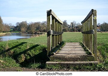 Fen Ditton, Cambridgeshire, England - A small wooden...