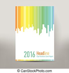 Modern Cover Annual Report Brochure - business brochure -...
