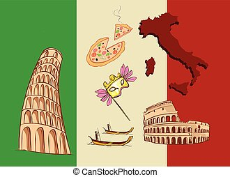 vector illustration of a Italy icon