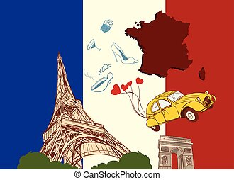 vector illustration of a france