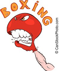 vector illustration of a angry boxing gloves