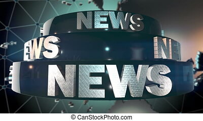 News background - World news broadcast Loop animation